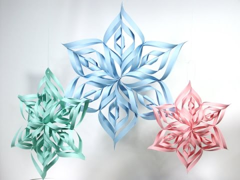 DIY, HOW TO MAKE 3D Paper Frozen Snowflake, Fast and Easy Last Minute Craft