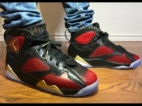 Wife's Jordan Retro 7 Doernbecher unboxing and on feet review!