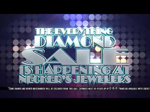 Getting engaged? Necker's Jewelers Everything Diamond Sale   Nov 7th - 8th 2014