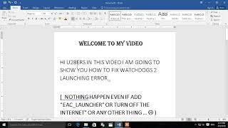 WATCHDOGS 2, how to fix error,