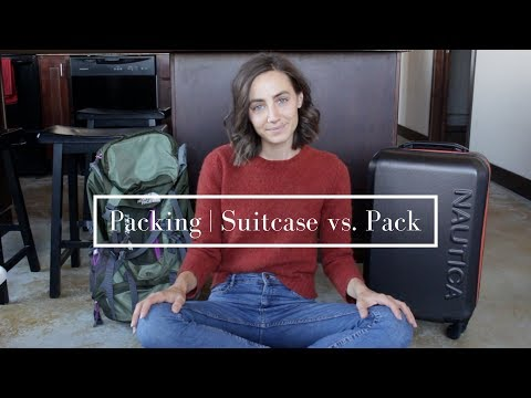 Packing | Suitcase vs. Pack