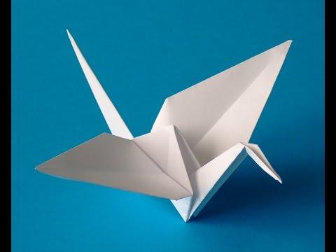 How to make a Flappy bird origami -Origami crane