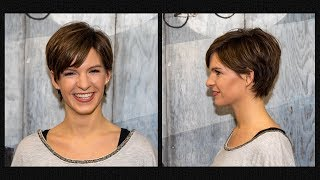long to short pixie haircut women | extreme hair makeover | hairstyles by Alves & Bechtholdt