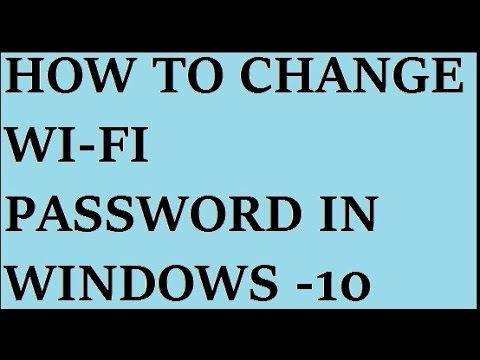how to change wifi password in windows 10