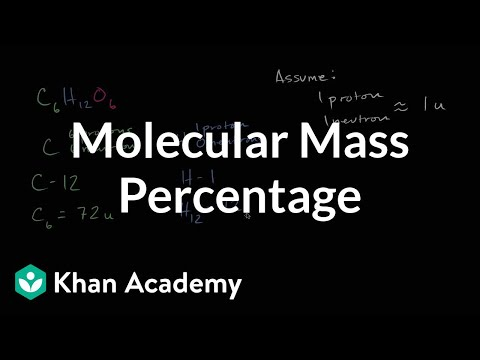 Molecular mass percentage | Chemical reactions and stoichiometry | Chemistry | Khan Academy