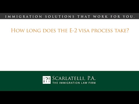 How long does the E-2 visa process take?
