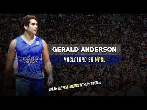 Gerald Anderson, Maglalaro sa MPBL | Artista Laban sa mga Pro Basketball Players