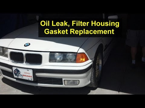How to replace the oil filter housing gasket on BMW 318i 4 cylinder, e36 - VOTD