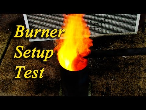 Free fuel heat & energy for home or workshop oil burner