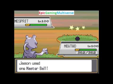 Catching Shiny Mesprit In Pokemon HeartGold (Action Replay Codes Used In Advance To Create Encounter