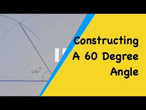 How to draw a 60 degree angle using a compass and ruler. HD Video.