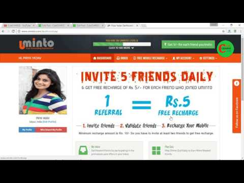 Uminto Free Recharge Sites, Get Unlimited Free Recharge for Mobile Easily