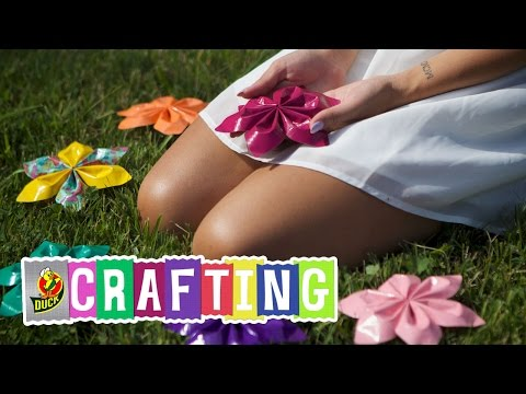 How to Craft a Duct Tape String Flower