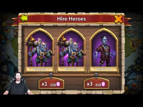 50k Gems SUPER Lucky Session First TIME Purchasing Castle Clash