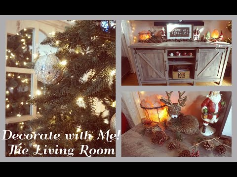 Speed Clean & Decorate with Me   The Living Room   Christmas 2017