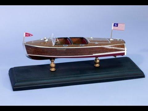 Dumas Chris Craft 1940 19 foot Barrelback Boat model part 1
