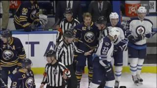 NHL: #29 Jake McCabe hit on #29 Patrick Laine January 7th, 2017