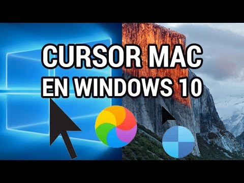 Cómo instalar el cursor del ratón Mac en Windows 10 www.informaticovitoria.com