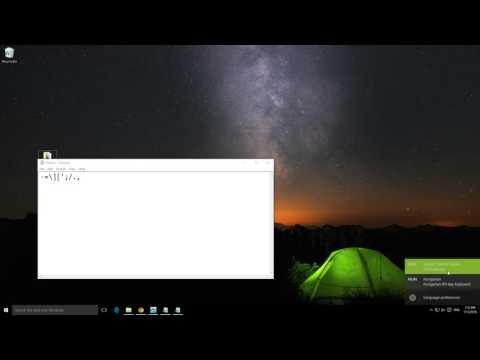 Windows 10 Language bar