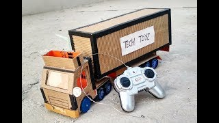 How to Make a Truck Container Hindi | DIY Trucks | Tech Toyz videos
