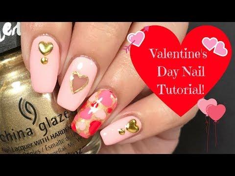 ❤️ Valentine's Day Nail Tutorial! ❤️