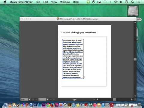 6. Linking type paragraphs - Adobe Illustrator CS6