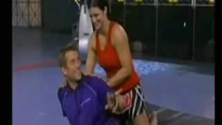 Gina Carano choking tv host ''dont be scared!!''