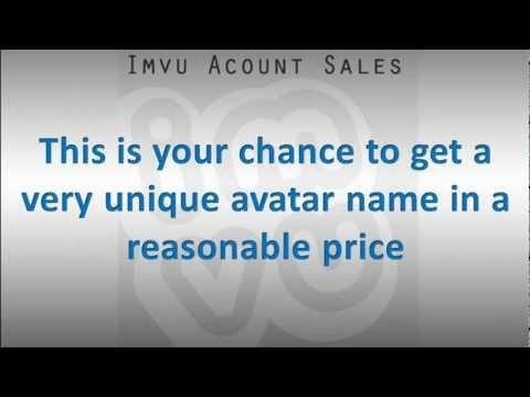 IMVU Account Sell - 2 Digit avatar names