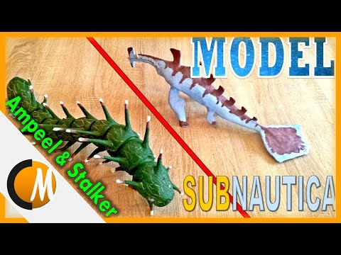 Ampeel and stalker-Subnautica/Clay model/Subnautica #2