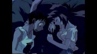 Shinji cum on asukas face