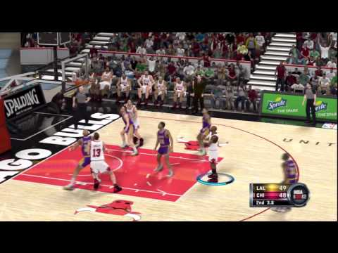 NBA 2K12 Michael Jordan Dramatic Last Second Game Winning 3 Pointer 96-97 Bulls vs 86-87 Lakers