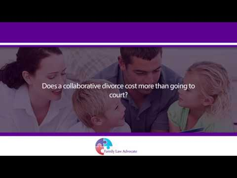 Does a collaborative divorce cost more than going to court?
