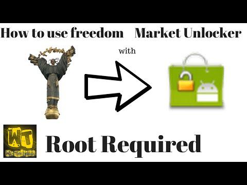 How to use freedom w/ market unlocker (Android).