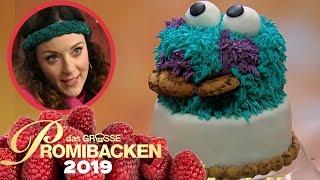 Krümelmonster-3D-Torte: Blümchen liebt Kekse!   2   Aufgabe   Das große Promibacken 2019   SAT.1 TV