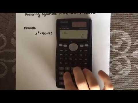 Factoring a simple quadratic equation using a calculator (Casio fx-991MS)