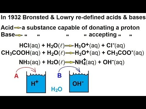Chemistry - Acids & Bases Fundamentals (4 of 35) Bronsted-Lowry Acids & Bases