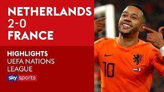 Depay's panenka penalty! | Netherlands 2-0 France | UEFA Nations League Highlights