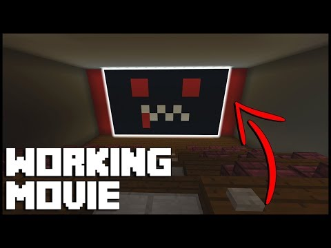 How to Make a Working Movie in Minecraft (Command Block)