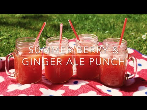 Proskins Summer BBQ - Summer Berry & Ginger Ale Punch