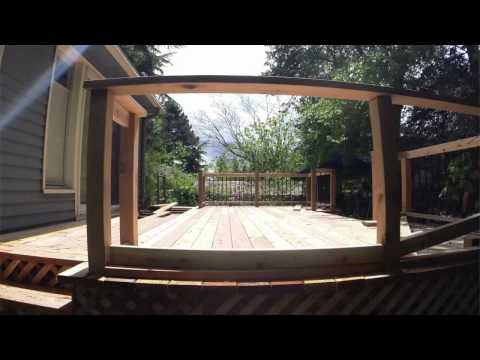 New Cedar Deck Installation Time-Lapse