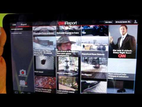 CNN for Android tablets app demo