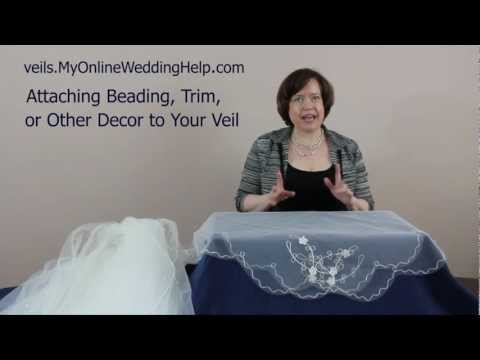 Veil Beading, Trim, and Embellishment Examples