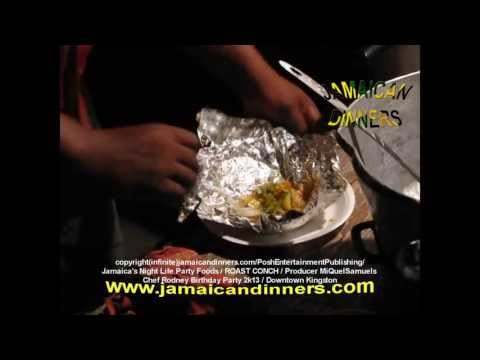 Roast Conch (Rodney's Jamaican Birthday Party) Grilling part 2