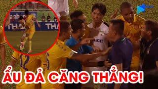 Văn Toàn bị phạm lỗi thô bạo, HAGL và DNH Nam Định ẩu đả căng thẳng | NEXT SPORTS