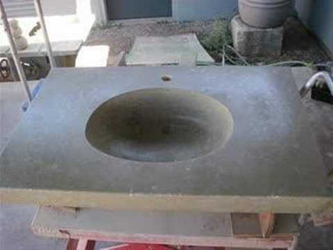 Use a Mold to Create a Custom Concrete Sink - www.ConcreteNetwork.com