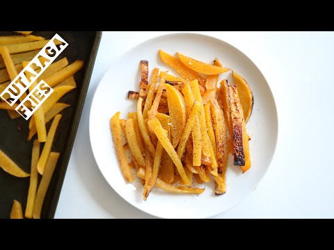 How To Make Rutabaga Fries | Healthy Low Calorie Alternative To French Fries and Sweet Potato Fries