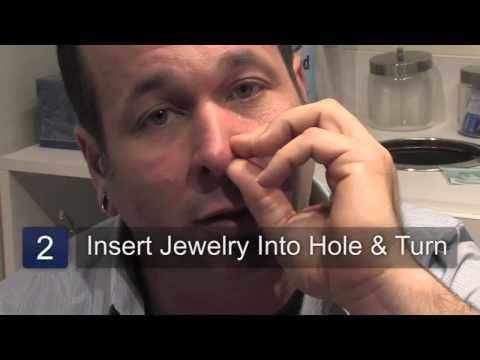 How to Put in a Corkscrew Nose Ring