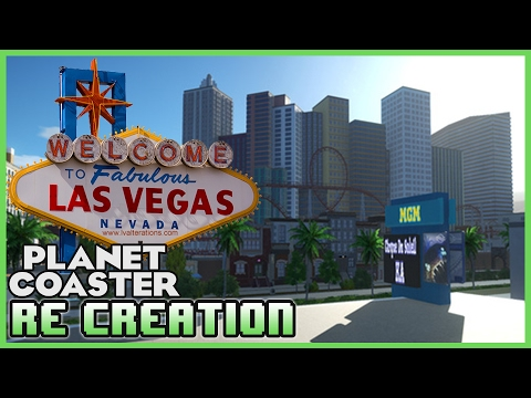 LAS VEGAS STRIP! Re-creation Park! Park Spotlight 17 #PlanetCoaster