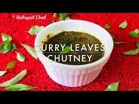 curry leaves chutney/thogayal | kadi patta chutney