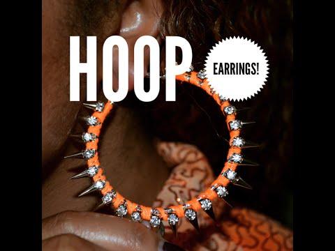 How to Make Cute Hoop Earrings